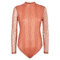 Urban Bliss Mid Pink Lace Bodysuit New Look
