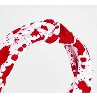 White Blood Print Halloween Headband New Look