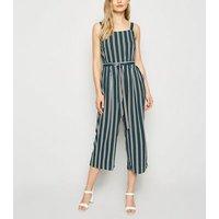 Apricot Black Stripe Culotte Jumpsuit New Look