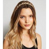 Gold Chain Headband New Look