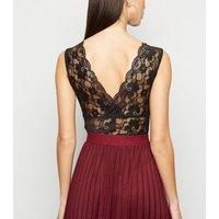 Black Lace Plunge Bodysuit New Look