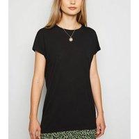 Black Longline T-Shirt New Look