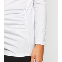 Maternity White Long Sleeve T-Shirt New Look