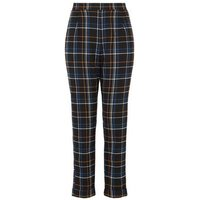 Black Check Print Trousers New Look