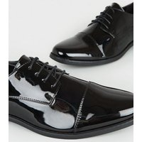 Black Patent Oxford Shoes New Look