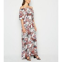 Urban Bliss White Paisley Bardot Maxi Dress New Look