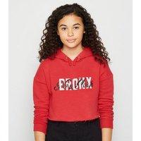 Girls Red Bronx Slogan Hoodie New Look