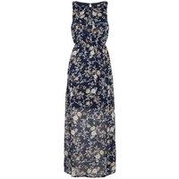 Mela Blue Floral High Neck Maxi Dress New Look