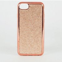 Rose Gold Diamante Case for iPhone 6/7/8 New Look