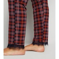 Curves Red Check Pyjama Trousers New Look