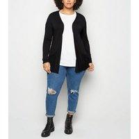 Curves Black Jersey Cardigan New Look