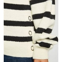 Petite White Stripe Jumper New Look
