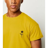 Yellow Rose Embroidered T-Shirt New Look