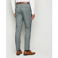 Mens Pale Grey Check Suit Trousers New Look