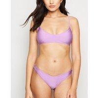 Lilac Crop Bikini Top New Look