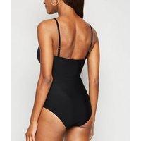 Black V Neck Swimsuit New Look