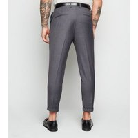 Mens-Grey-Pleated-Trousers-New-Look