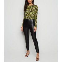 Noisy May Green Neon Snake Print Top New Look
