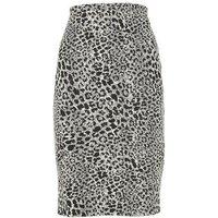 Black Leopard Print Pencil Skirt New Look