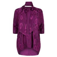 Blue Vanilla Curves Light Purple Tunic and Scarf Top New Look