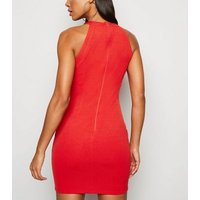 AX-Paris-Red-Button-Trim-Bodycon-Dress-New-Look