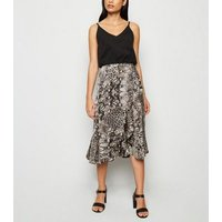 AX Paris Light Grey Snake Print 2 in 1 Dress New Look