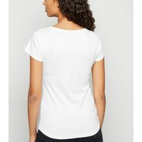 White Scoop Neck T-Shirt New Look