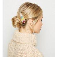 Multicoloured Bead Gem Hair Clip New Look