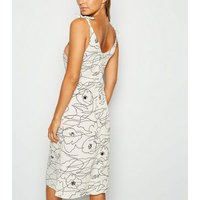 Urban Bliss White Abstract Print Dress New Look