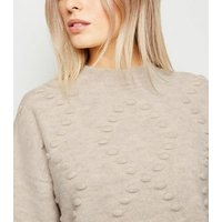 Petite Cream Bobble Argyle Jumper New Look