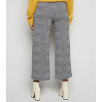 JDY Grey Check Wide Leg Trousers New Look