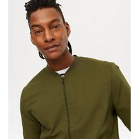 Khaki Lightweight Bomber Jacket New Look