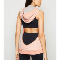 GrymPro Pale Pink Backless Sports Hoodie New Look