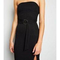 Black Bandage Bandeau Bodycon Midi Dress New Look
