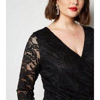 Curves Black Lace Mini Dress New Look
