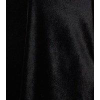 Curves Black Velvet Mini Dress New Look