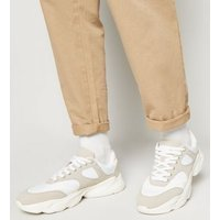 Light Grey Chunky Lace Up Trainers New Look