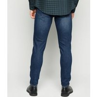 Men's Bright Blue Ripped Skinny Stretch Jeans New Look