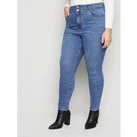 Curves Blue 'Lift & Shape' High Waist Jeans New Look