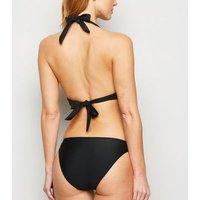 Black Ring Hipster Bikini Bottoms New Look