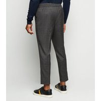 Green Check Slim Crop Trousers New Look