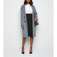 Black Belted Pencil Skirt New Look