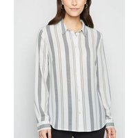 White Stripe Long Sleeve Shirt New Look