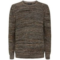 Brown Space Dye Knit Crew Neck Jumper New Look