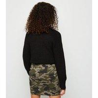 Girls Green Camo Ring Pull Tube Mini Skirt New Look