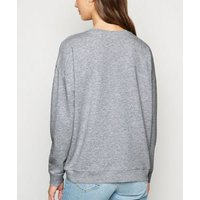 Grey Crew Neck Sweatshirt New Look