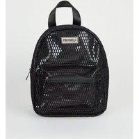 Pink Vanilla Black Mesh Backpack New Look