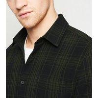 Khaki Check Long Sleeve Shirt New Look
