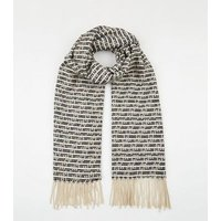 Multicoloured Textured Stripe Oversized Scarf New Look