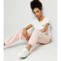 Girls Pale Pink Cuffed Joggers New Look